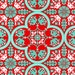 Historic Tile JD068 POPPY Notting Hill by Joel Dewberry for Westminster/Free Spirit Fabrics