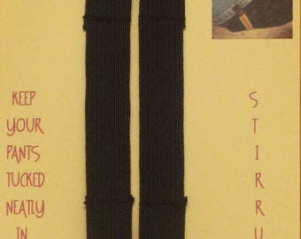 5 PAIRS -- FREE SHIPPING -- Black Elastic Pants Clips - Boot Straps - Stirrups