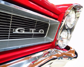 Classic Car Photo, Pontiac GTO Classic Car Photograph Art, Gift for Guy