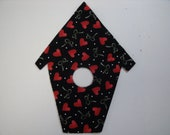 CHRISTMAS BIRDHOUSE fabric quilting die cut appliques