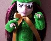 Monster High Doll Costume - Green Lolita Coat With Crocodile Teeth