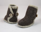 Felted Baby Ugg Booties