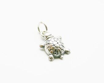Sterling Silver Turtle Charm, Sea Turtle Charm, Silver Turtle Charm, Sterling silver Turtle Charm