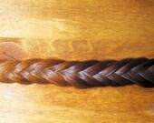 "Ombre Fishtail - large braid - clip in human hair extension braid - 50 gram thick braid - 18"" long"