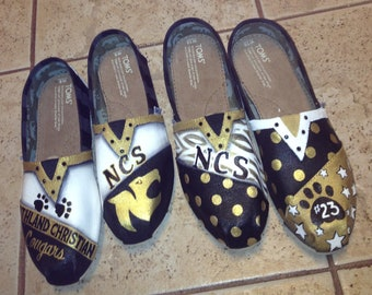 School Spirit Shoes hand painted