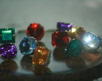 Push Pins Jeweled Thumb Tacks Chic Push Pins Jeweled Thumbtacks Push Pins Pushpins Deep Rich Color Gems