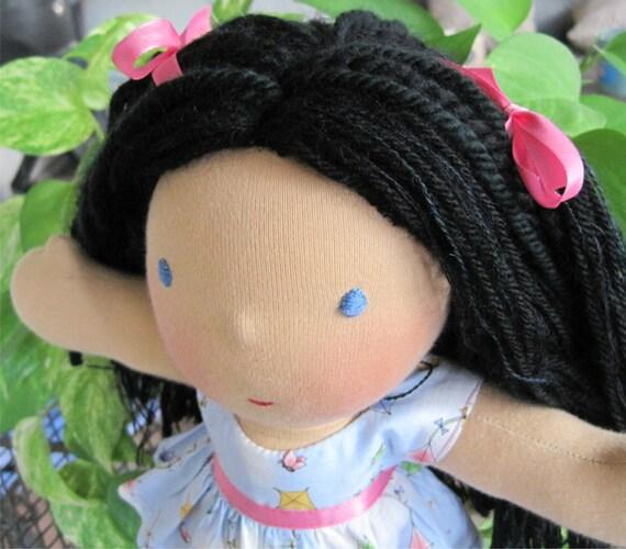 "Handmade Waldorf Doll 12"" with Waldorf Doll Clothes - Sara"