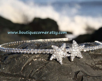 Starfish Headband - Starfish Rhinestone Headband - Rhinestone Wedding Headband - Starfish Hair Accessories -  Bridal Hair  Accessory