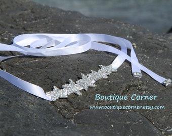 Starfish Bridal Hair Band - White Wedding Headband - Starfish Hair Accessories -  Bridal Hair  Accessory
