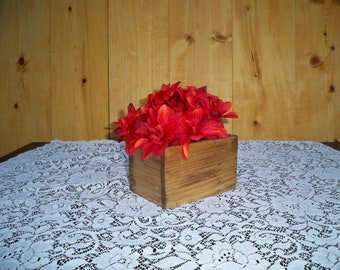 Decorative Wood Box,Decorative Wood Center Piece, Wedding Centerpiece, Wood Centerpiece, Coffee Table Centerpiece, Decorative Wood Boxes,