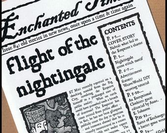 Enchanted Times 4, fairytale newspaper - Emperor's New Clothes, Cinderella, Rumpelstiltskin, Grimm fairy tales