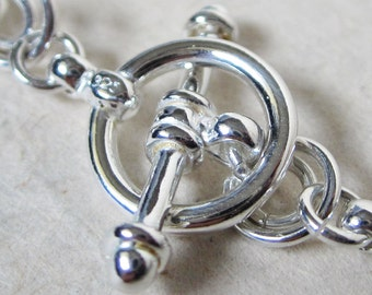 Sterling Silver Round Toggle Clasp - 11mm