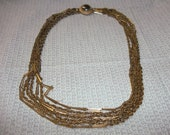 Faux Gold Multi-Strand Necklace