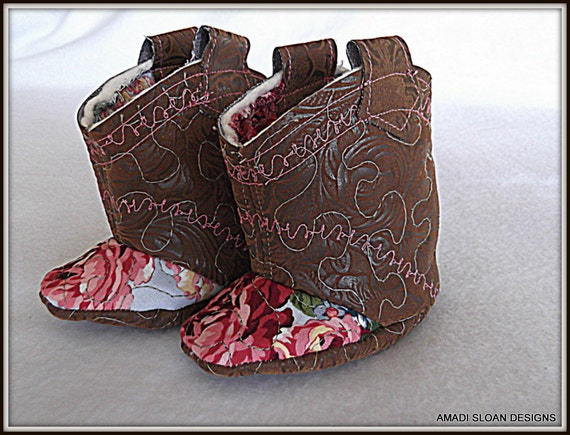 Baby Cowgirl Shabby Chic Boots Infant Booties
