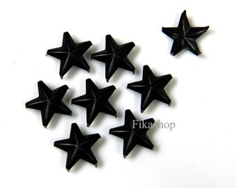 20% Off Clearance SALE: 9mm 50pcs Black Star Studs ( 5 legs ) / HIGH Quality - Fikashop
