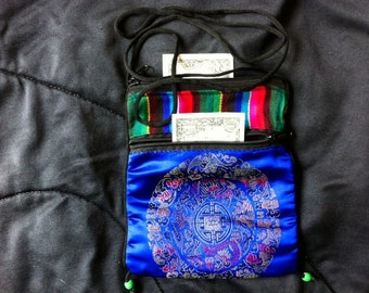 One Tibetan Silk Purse, GREAT for Communication Device, jewelry, crystals, change, findings, tooth fairy, beads, buttons and passports too.