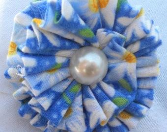 Blue Daisy Adjustable Ring