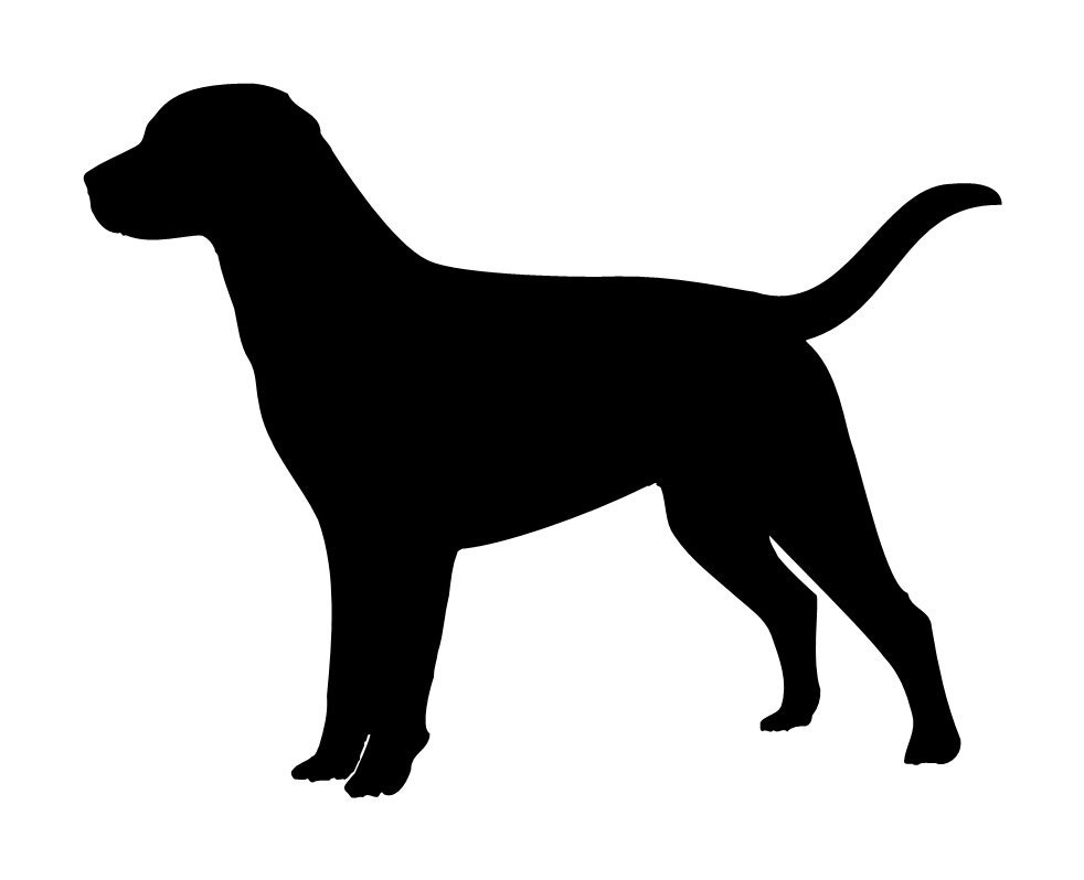 Labrador Retriever Dog Lab Stencil Black Lab by sookiedog on Etsy