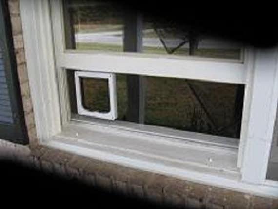 Cat Door Insert For Window Clear Window Mounted Cat Door