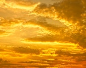 Golden Sky photo Yellow Sky Digital Download Photography Clouds Sun Rays photo dramatic sky picture golden yellow wall art