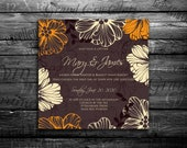 "Wedding invitation, ""Bridal shower announcement"", ""Save the Date card"", ""Wedding name card"", ""Thank you card"", ""RSVP  response""."