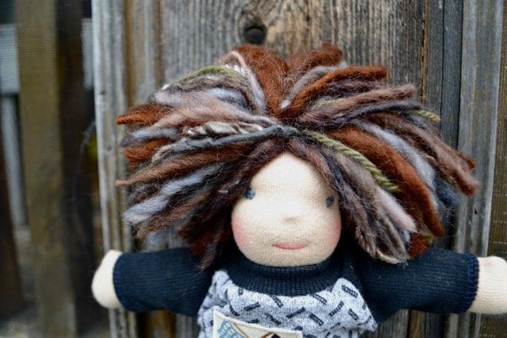 Reserved for lesliesbren - Waldorf Doll, 10 inch, Custom Made to order luvkin