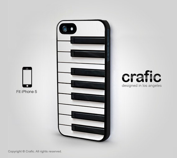 black and white piano keyboard iphone 5 5s case iphone 4 by crafic. Black Bedroom Furniture Sets. Home Design Ideas