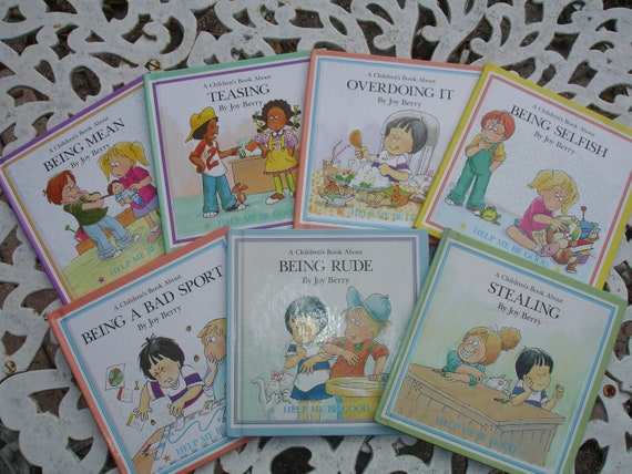 Help Me Be Good by Joy Berry A Children's Book Lot of 7 character teaching