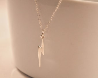Sterling Silver Lightning Bolt Necklace
