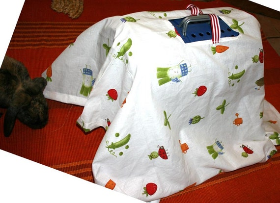 reserved for Donna - Bundercover carrier cover in cotton veggie printed fabric