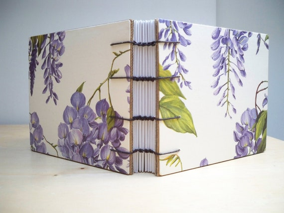 Eco Recycled Journal - Wisteria Flowers