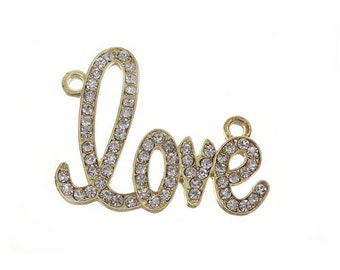 Gold Love Connector - Beads Jewelry Supplies Crafting Supplies Jewelry Making