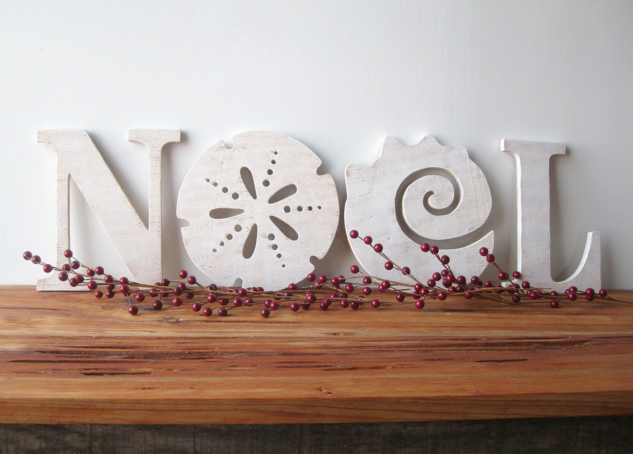 noel christmas decoration beach coastal word sign