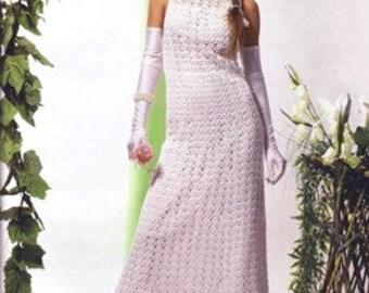 Wedding elegant crochet women dress