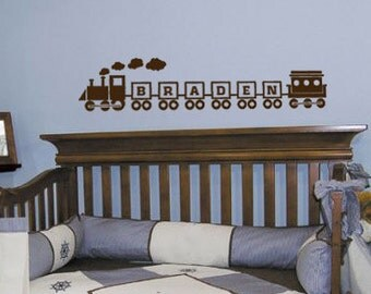 Train Personalized Vinyl Wall Art Decal - Perfect for little boy's room