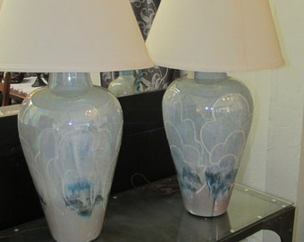 Pearlized Blue Lamps