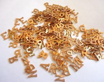Vintage Brass grab bag of letter initials