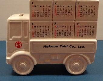 Vintage Ceramic Truck Bank