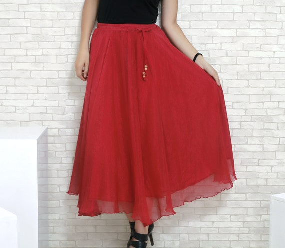 items similar to maxi chiffon skirt 017 on etsy