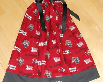 Featuring Oklahoma Boomer Sooner Pillowcase Dress  TD027: Size 18-24 months only 1-ready to ship