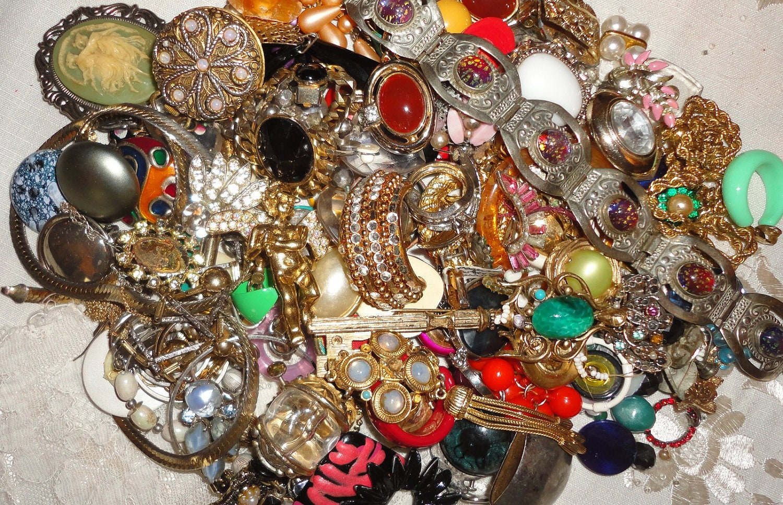 fabulous vintage jewelry lot craft wear repair destash
