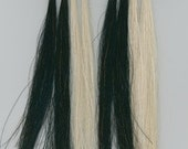 "8"" Horse Hair Scalp Locks Black or White Native Tribal Crafts Pow Wow Regalia"