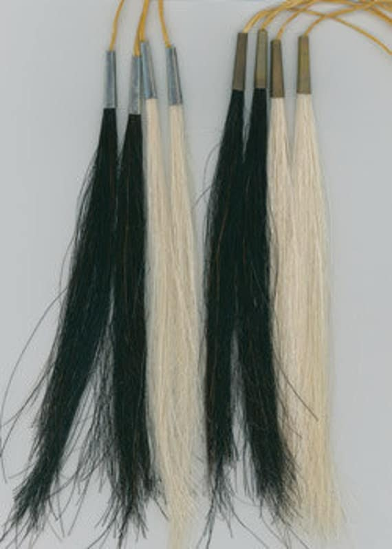 "8"" Horse Hair Scalp Locks Black or White Native Tribal Crafts Pow Wow Regalia"