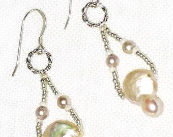 Pearl Drop Pierced Earrings