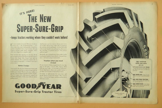 Goodyear Tire Double Page Ad Vintage Ad 1940s Tires Car Man
