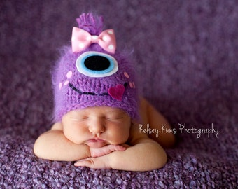 Newborn - 5T - Fuzzy Little Monster Beanie