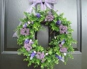 Wreath, Purple Wreath, Door Wreath, Fall Wreath, Wreaths for the Door, Outdoor Wreath, Wreaths, Door Wreaths, Fall Wreaths, Outdoor Wreaths
