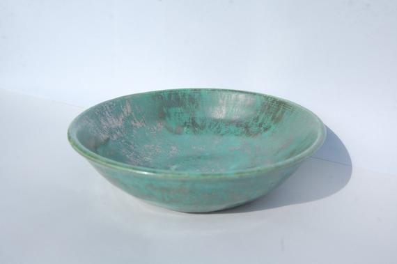 Decorative Bowl Verdigris Green, Wedding Gift Idea, Home Decoration in Verdigris