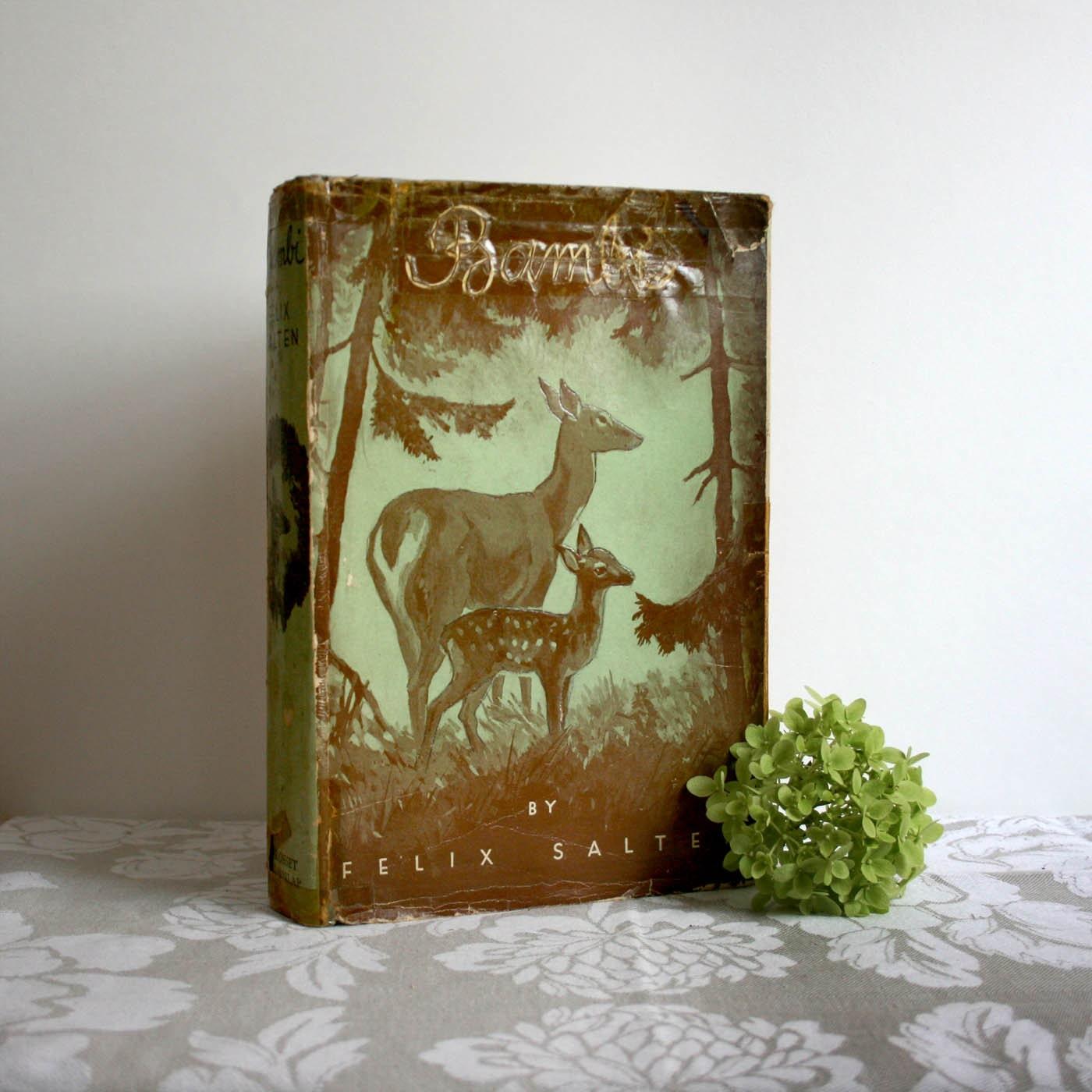 vintage bambi childrens book 1931 by felix salten deer