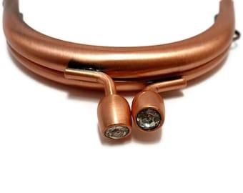 10 x  purse frame 7.5cm antique copper with brillant closure F7.5/044